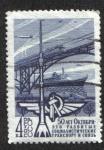 Stamps Russia -  Fundamentos del progreso en la Revolución de Octubre 50 Aniv.