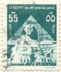 Sellos de Africa - Egipto -  Piramide y Esfinge