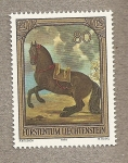 Stamps of the world : Liechtenstein :  Caballo