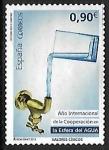 Sellos de Europa - España -  Año internacionalde la cooperación en la esfera del Água