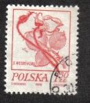 Sellos del Mundo : Europa : Polonia : Dibujos florales de Wyspianski, Rosa