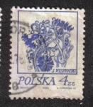 Sellos de Europa - Polonia -  Dibujos florales de Wyspianski, Flores de maíz