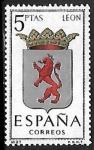 Sellos de Europa - España -  Escudos de las Capitales de las provincias Españolas -  León