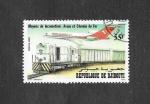 Stamps : Africa : Djibouti :  Medios de Comunicación. Avión y Ferrocarril