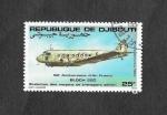 Stamps : Africa : Djibouti :  50ª Aniversario de la Aviación Francesa