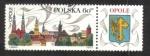 Sellos de Europa - Polonia -  Publicidad turística, Catedral, Piast Torre del castillo y torres de la iglesia, Opole