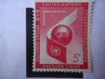 Stamps ONU -  Ala de Avión -Globo Terrestre - Emblema de la ONU.