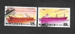 Stamps : Asia : North_Korea :  Yt1781E-C-1781E-A - Barcos Containers