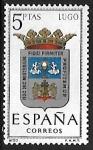 Stamps Spain -  Escudos de las Capitales de las provincias Españolas - LugoL