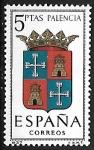 Sellos de Europa - España -  Escudos de las Capitales de las provincias Españolas - Palencia