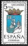 Stamps Spain -  Escudos de las Capitales de las provincias Españolas - Santander