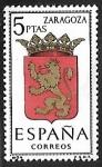 Sellos de Europa - España -  Escudos de las Capitales de las provincias Españolas - Zaragoza