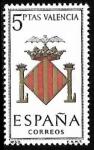 Stamps Spain -  Escudos de las Capitales de las provincias Españolas - Valencia