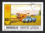 Stamps : Asia : Mongolia :  60 años de independencia, Agricultura