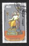 Stamps Mongolia -  7 maravillas del mundo antiguo, Estatua de Zeus