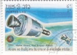 Stamps Laos -  AERONAUTICA- APOLO-SOYUZ