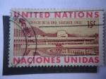Stamps : America : ONU :  Edificio de la ONU, Santiago de Chile