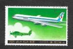Stamps North Korea -  1745 - Avión de Pasajeros