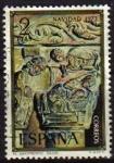 Sellos de Europa - España -  ESPAÑA 1973 2162 Sello Navidad. Nacimiento Capitel monasterio Silos (Burgos) Usado Spain