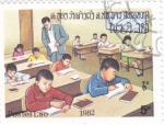 Stamps Laos -  ENSEÑANZA