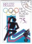 Stamps : America : Belize :  OLIMPIADA DE LAKE PLACID-80