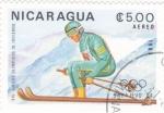 Sellos del Mundo : America : Nicaragua : OLIMPIADA SARAJEVO'84