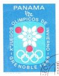 Sellos del Mundo : America : Panamá : OLIMPIADA DE GRENOBLE-68