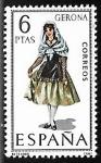 Stamps Spain -   Trajes Típicos Españoles - Gerona