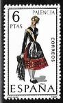 Sellos de Europa - España -   Trajes Típicos Españoles - Palncia