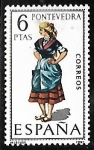 Sellos de Europa - España -   Trajes Típicos Españoles - Pontevedra