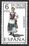 Stamps Spain -  Trajes Típicos Españoles - Santa Cruz de Tenrife