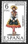 Stamps Spain -  Trajes Típicos Españoles - Segovia