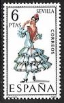 Stamps of the world : Spain :  Trajes Típicos Españoles - Sevilla
