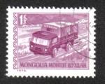 Sellos de Asia - Mongolia -  Servicios Postales, Camión