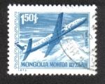 Sellos de Asia - Mongolia -  Servicios Postales, Ilyushin Il-18 Turbopropulsor de pasajeros