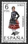 sellos de Europa - España -  Trajes Típicos Españoles - Soria