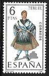 Stamps Spain -  Trajes Típicos Españoles - Teruel