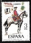 Sellos de Europa - España -  Uniformes militares - Regimiento de la Reina