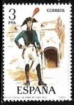 Stamps Spain -  Uniformes militares - Coronel de Infantería de linea
