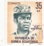 Stamps : Africa : Equatorial_Guinea :  Teniente Coronel-Obiang Nguema