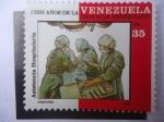 Stamps Venezuela -  Cien Años de la Cruz Roja Venazolana - Asistencia Hospitalaria - Hospital Care.