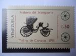 Sellos de America - Venezuela -  Historia del Transporte - Metro de Caracas - Charrette, carruaje Inglés