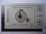Stamps Venezuela -  Historia del Transporte - Metro de Caracas - Bicicleta