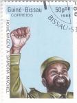 Stamps : Africa : Guinea_Bissau :  Homenaje a Samora Machel -presidente