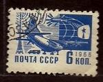 sellos de Europa - Rusia -  Avion