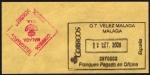 Stamps : Europe : Spain :  COL- FRAQUEO PAGADO EN OFICINA VELEZ (MÁLAGA) Y CONTROL SEGURIDAD