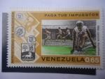 Sellos de America - Venezuela -  Ministerio de Hacienda - Paga tus Impuestos - Más Deportes.
