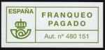 Sellos del Mundo : Europa : España : INT-FRANQUEO PAGADO - AUT. Nº 480.151