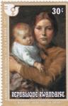 Stamps : Africa : Rwanda :  pintura- madre con su hijo