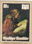 Stamps : Africa : Rwanda :  pintura- La madre de Rembrandt leyendo